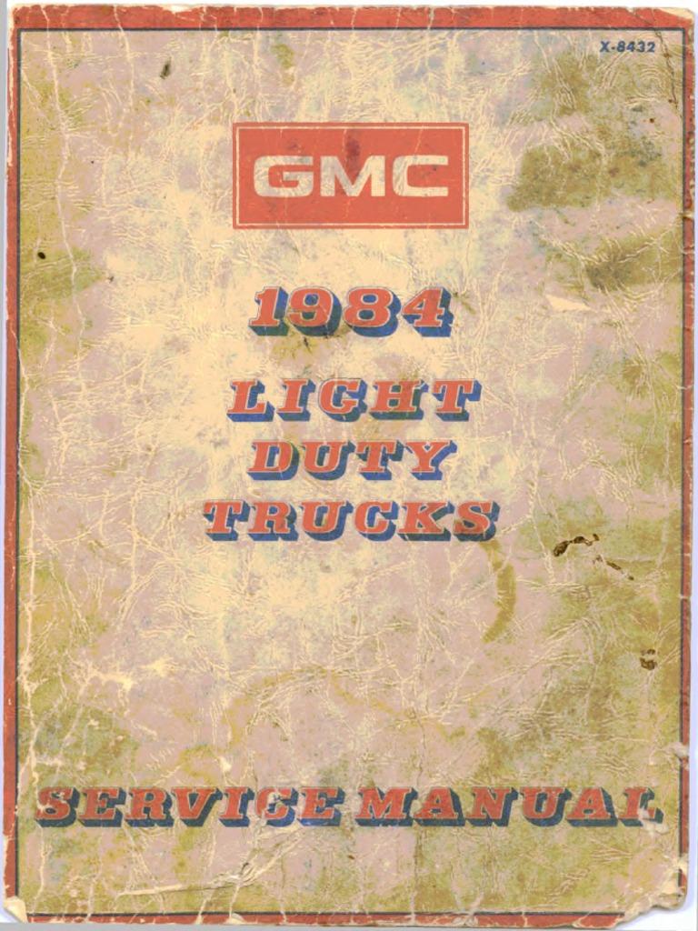 1984 GMC Light Duty Trucks Service Manual – Le9 Wiring Diagram