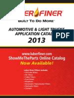 2013 LF Auto Application Catalog