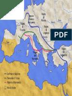 1096 - 1099, Percorsi Della Prima Crociata
