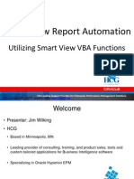 SmartView VBA Functions HUGMN Tech Day
