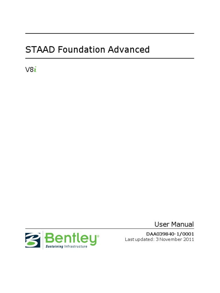 staad foundation advanced manual microsoft excel computer file rh es scribd com Staad.Foundation Staad Curved Bridge