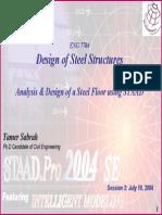 STAAD Tutorial 3 Steel Floor