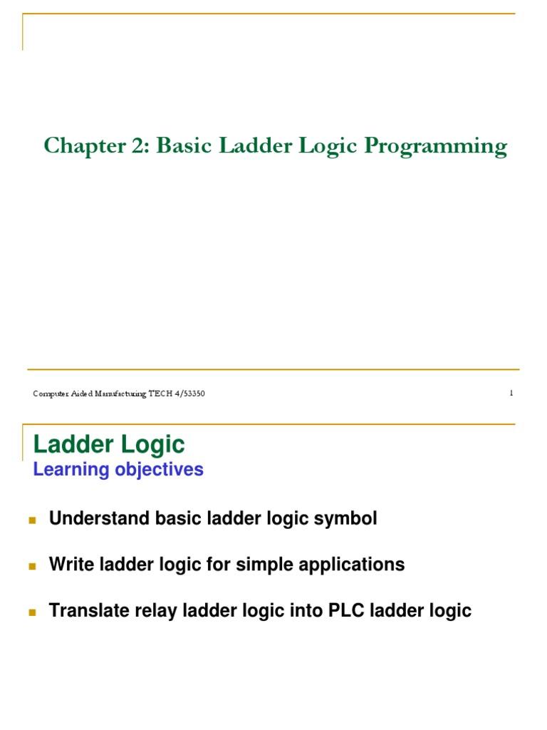 Basic ladder logic programming programmable logic controller relay ccuart Choice Image