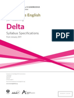 Cambridge Distance DELTA Syllabus