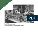 Early FDA Laboratory
