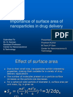 Surface Area Effect of Nanoparticles on the Drug Delevery