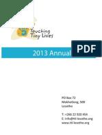 TTL Annual Report 2013