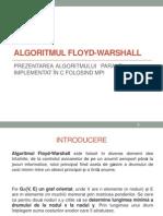 Algoritmul Floyd-Warshall - Varianta Paralalela Implementata in C Folosind MPI