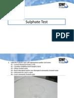 Sulphur in drinking water
