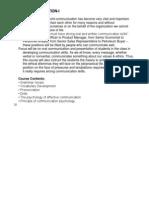 Oral Communication- Syllabus