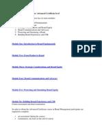 Brand Management Course