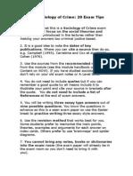 Social Crime Exam tips