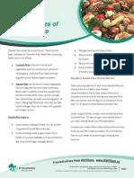 Factsheet Food Sources of Soluble Fibre