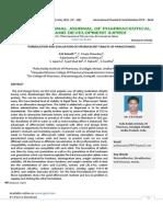 Formulation and Evaluation of Effervescent Tablets of Paracetamol