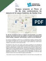 Guillermo Guigou propone al Pleno el soterramiento de más contenedores de basura en el casco histórico de Santa Cruz
