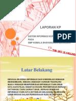 contoh Presentasi Laporan KP smp bhayangkari