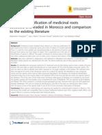Botanical Identification of Medicinal Roots