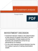 Techniques of Investment Analysis
