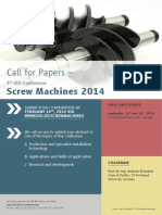 Screw Machines Call for Papers