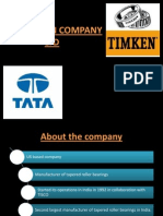 A Presentation on Tata Timken