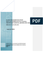 Laporan Akhir. Kajian Back Ground Study Rencana Pembangunan Jangka Menengah Nasional 2015-2019 Bidang Tata Ruang
