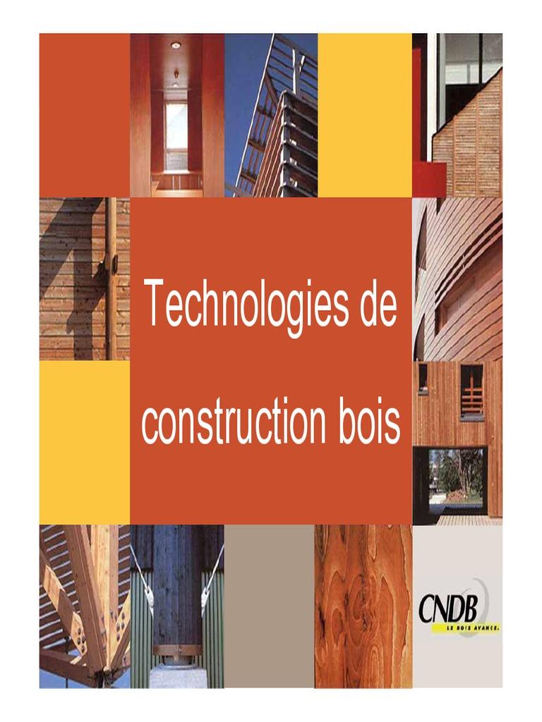 Technologie de construction for Construction en bois pdf