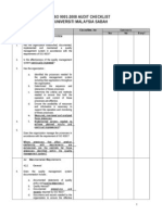 ISO 9001 2008 Audit Checklist