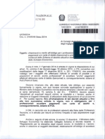 Circolare CNI n. 314 2014