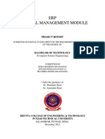 Erp material module project file