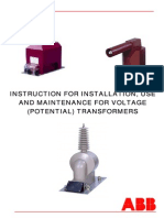 Instruction for Installation and Maintenance VT