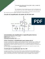 Circuito Amplificador de Sinais de Antena de TV Em VHF e UHF