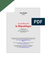 Jean Bodin Les Six Livres de La Republique