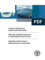 DIRECTRICES TÉCNICAS PARA LA CERTIFICACION DE LA ACUICULTURA