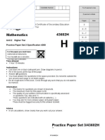 Maths Question Paper GCSE