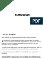 Motivación  - Liderazgo