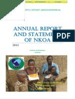 Annual Report of NKOA 2013