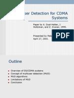 Multi User detection