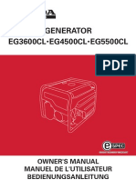 Manual Generador Honda EG3600CL EG4500CL EG5500CL