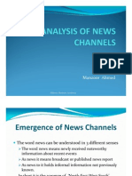 Analysis of News Channels 111