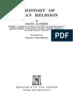 Altheim, Franz - History of Roman Religion