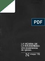 La+Vicar%C3%ADa+de+La+Solidaridad+Una+Experiencia+de+Iglesia