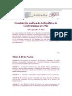 Constitucion de 1921