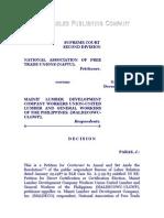 National Association of Free Trade Unions vs. Mainit Lumber Development Company Workers Union, G. R. No. 79526, Dec. 21, 1990