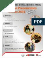 Cursos Presenciales - Dirección General de Educación Básica Especial