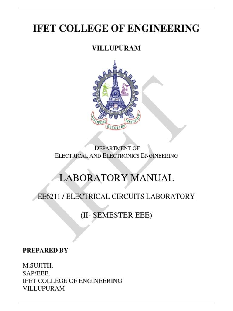 ee6211 electric circuit lab low pass filter electrical network rh scribd com eee lab manual jntu eee lab manual pdf