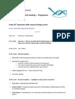 Meeting Programme 18Sept09