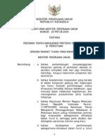 Permen PU No. 20 Tahun 2009 Ttg Pedoman Teknis Manajemen Proteksi Kebakaran Di Perkotaan