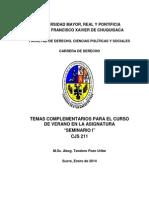 Seminario i Temas Complementarios Para El Curso de Verano Enero 2014