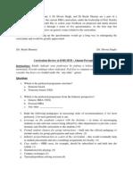 Curriculum Review Alumni I