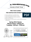 Yoga Poster UNT Spring 2014